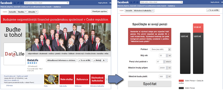 Facebook Stránka s Aplikací