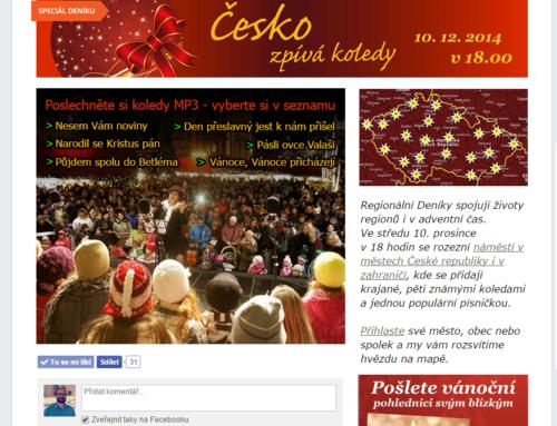 Denik.cz – Česko zpívá koledy 2014 – Facebook aplikace