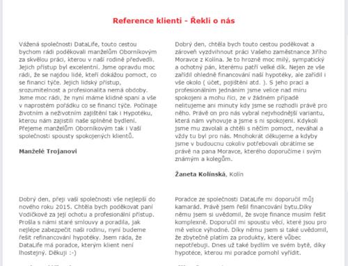 DataLife.cz – Facebook aplikace – Hypoteční úvěr